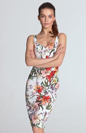 Sukienka ołówkowa z dekoltem S118K