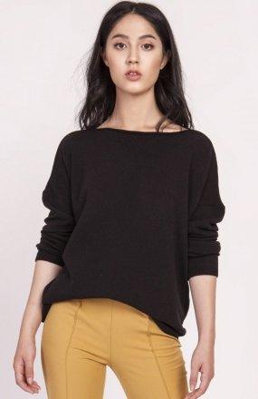 Dzianinowa bluzka czarna SWE121