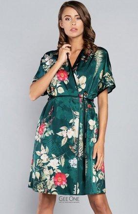 Italian Fashion Kreta satynowy szlafrok w kwiaty