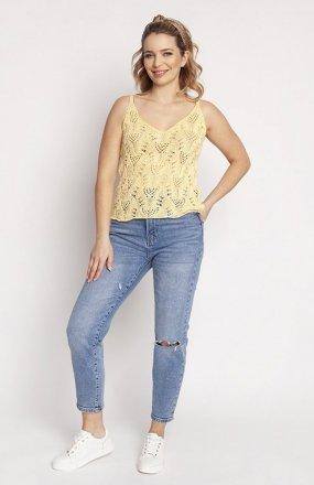 MKM SWE232 top sweterkowy żółty