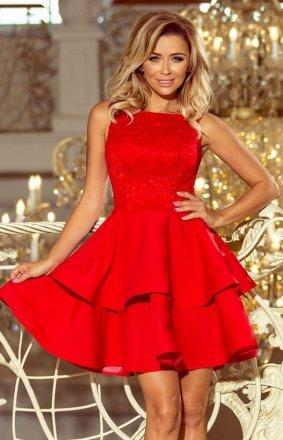 Numoco 205-1 Laura sukienka czerwona