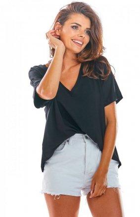 Oversizowa bluzka czarna M203