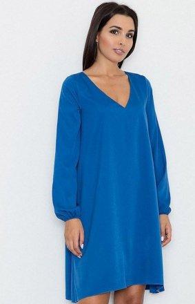 Figl M566 sukienka niebieska
