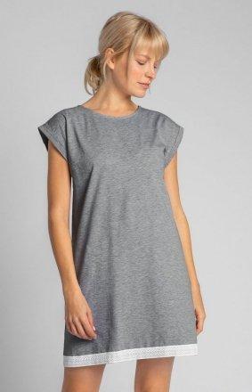 Bawełniana szara koszula nocna LA043