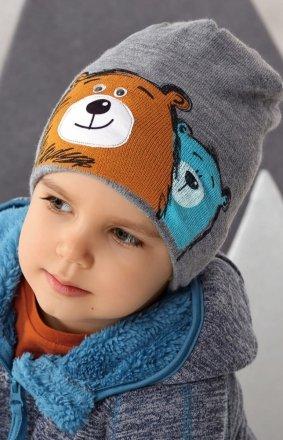 AJS 42-489 dziecięca czapka z misiami