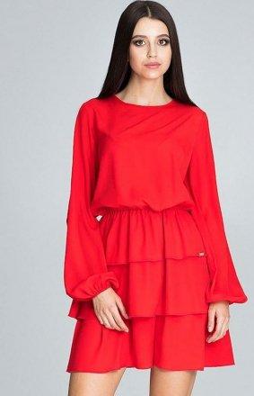Figl M601 sukienka czerwona