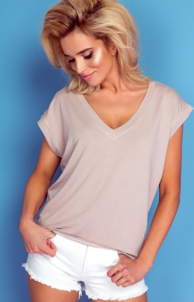 Oversizowa bluzka Knits mocca K103