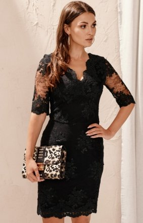Roco 0153 koronkowa sukienka czarna
