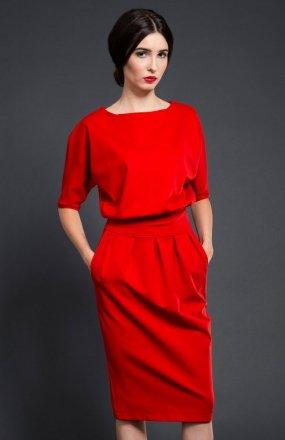 Kasia Miciak design mono sukienka czerwona
