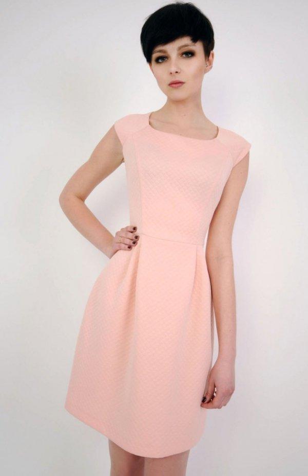 Vera Fashion Colette sukienka pudrowa