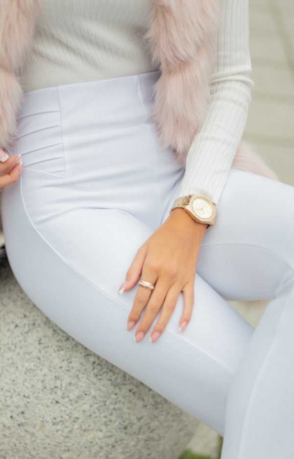 Modelujące białe spodnie Lola Fashion-2