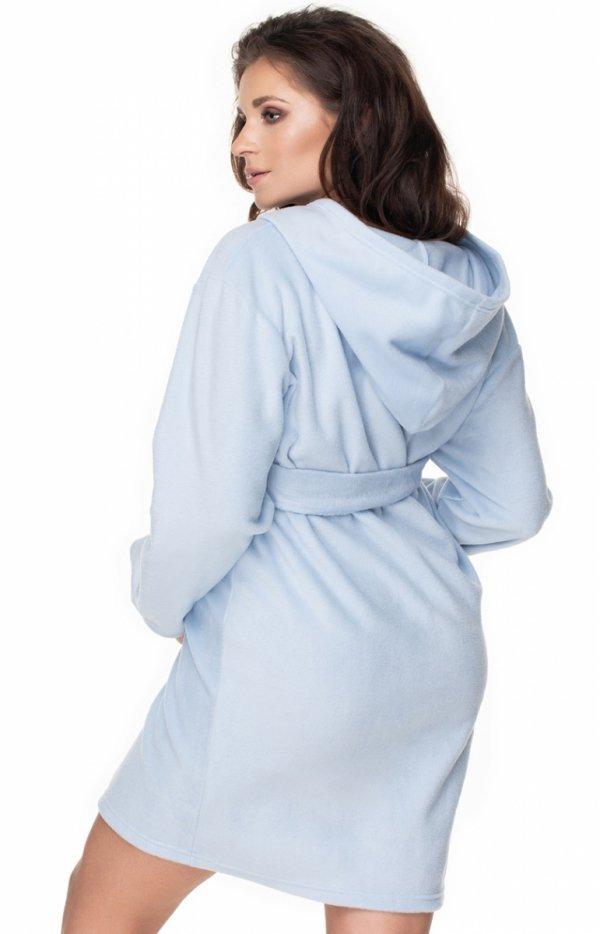 Błękitny ciążowy szlafrok 0148 tył