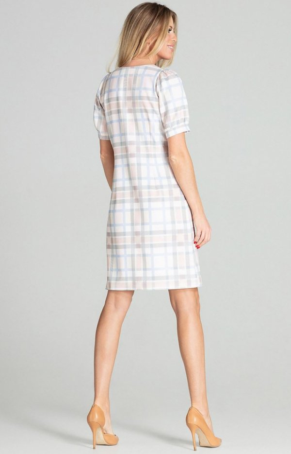 Sukienka w kratę Figl M704/111 tył