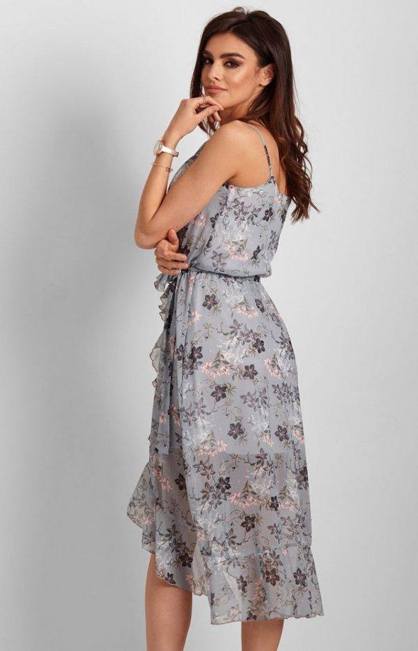 Letnia sukienka midi w kwiaty Chantal-2