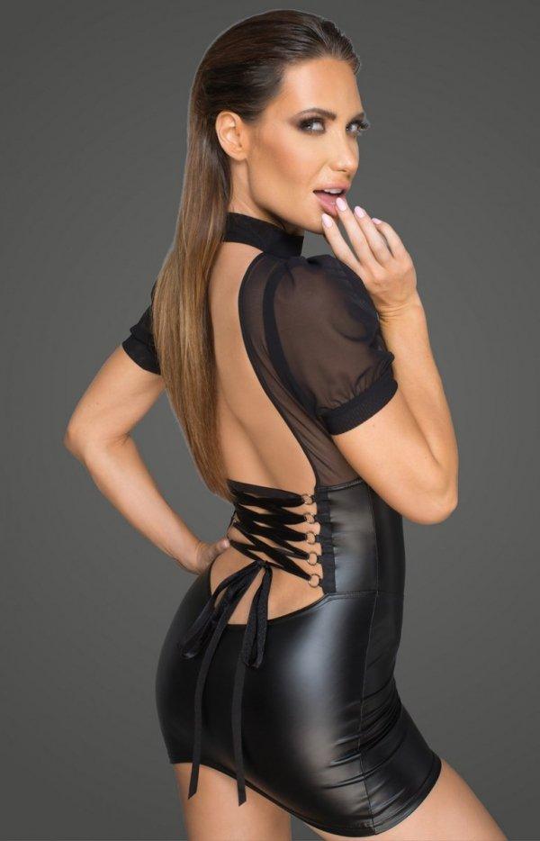 Seksowna mini sukienka F204 tył