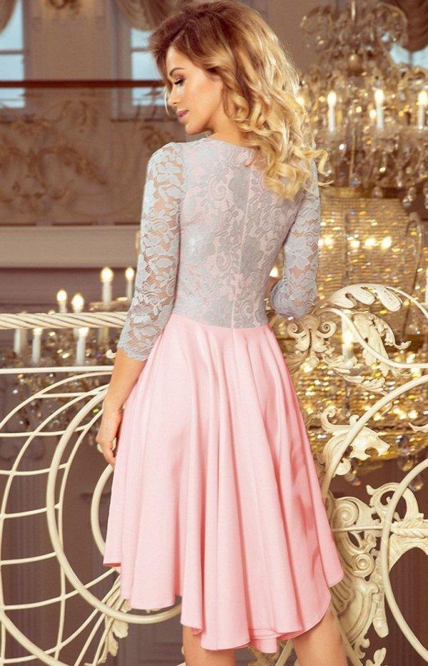Sukienka z dłuższym tyłem Numoco 210-5 tył