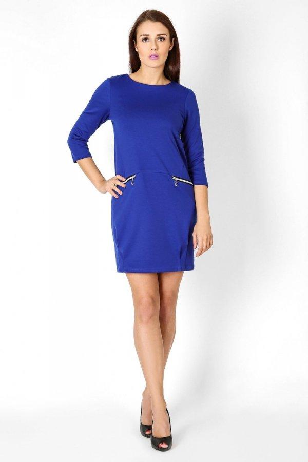 Vera Fashion Oxana sukienka chabrowa