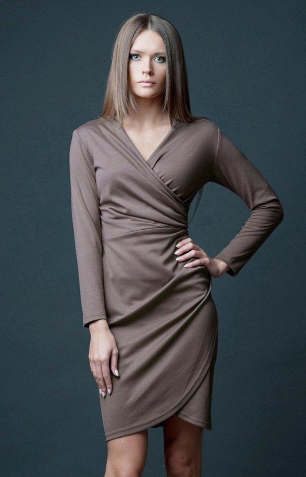 Vera Fashion Rebeka sukienka beżowa