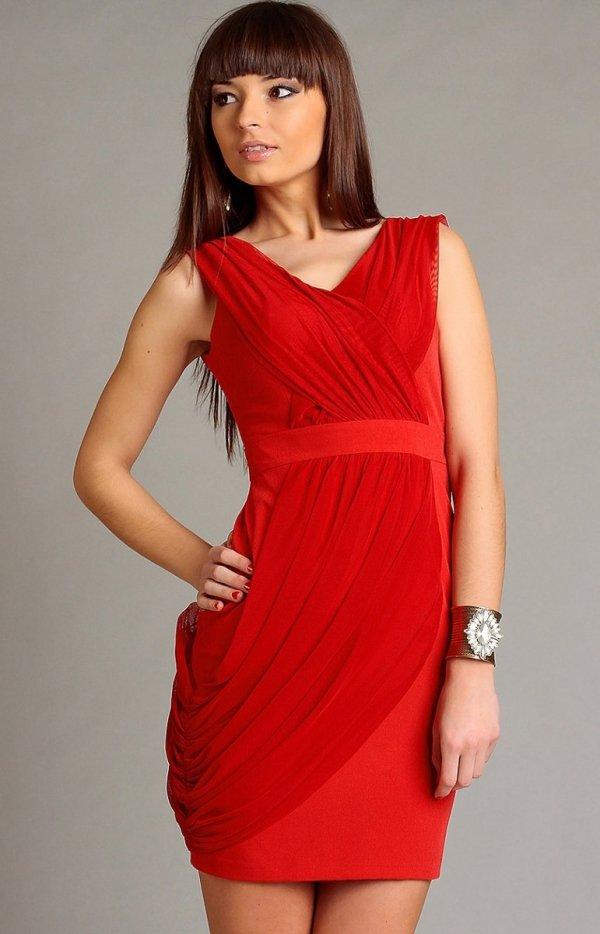 Vera Fashion Vivienne sukienka czerwona