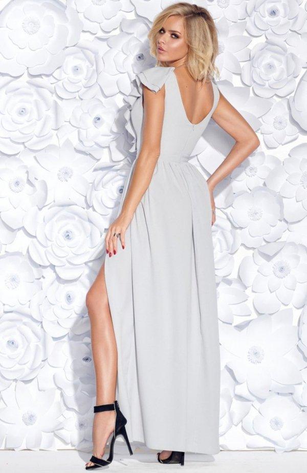Bicotone 2152-03 sukienka szara tył