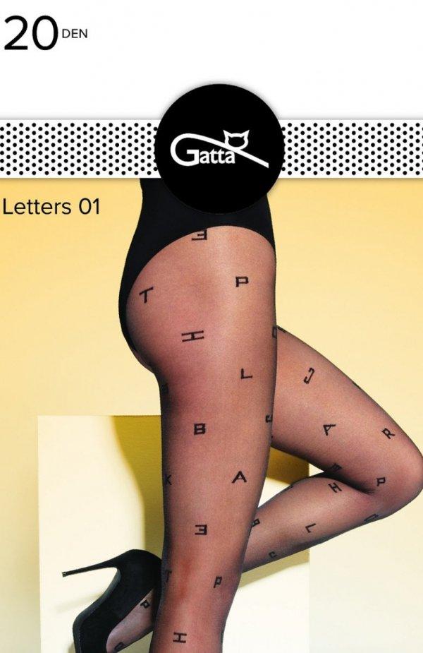 Gatta Letters wz.01 rajstopy