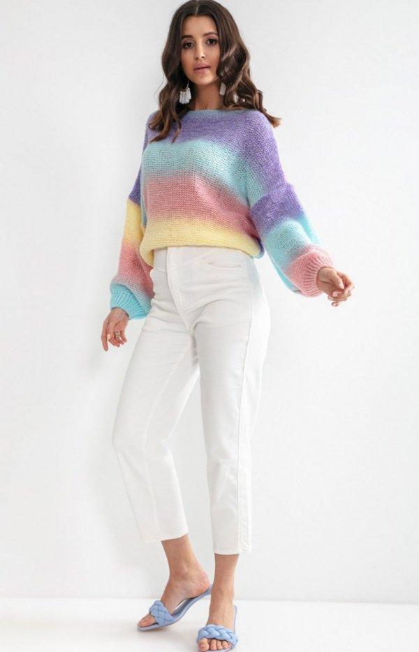 Pastelowy oversizowy sweter elnido F1162-1
