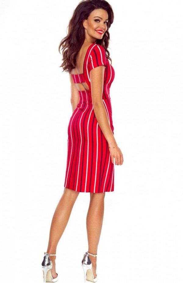 Bergamo Paula sukienka czerwona tył