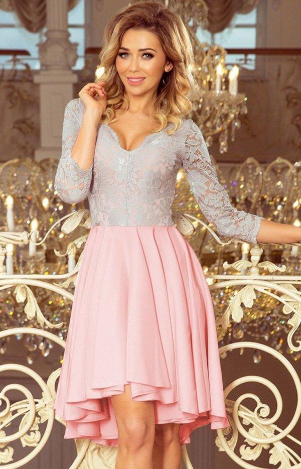 Sukienka z dłuższym tyłem Numoco 210-5