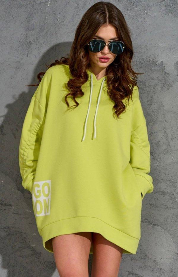 Oversizowa bluza damska 0006 limonka-1