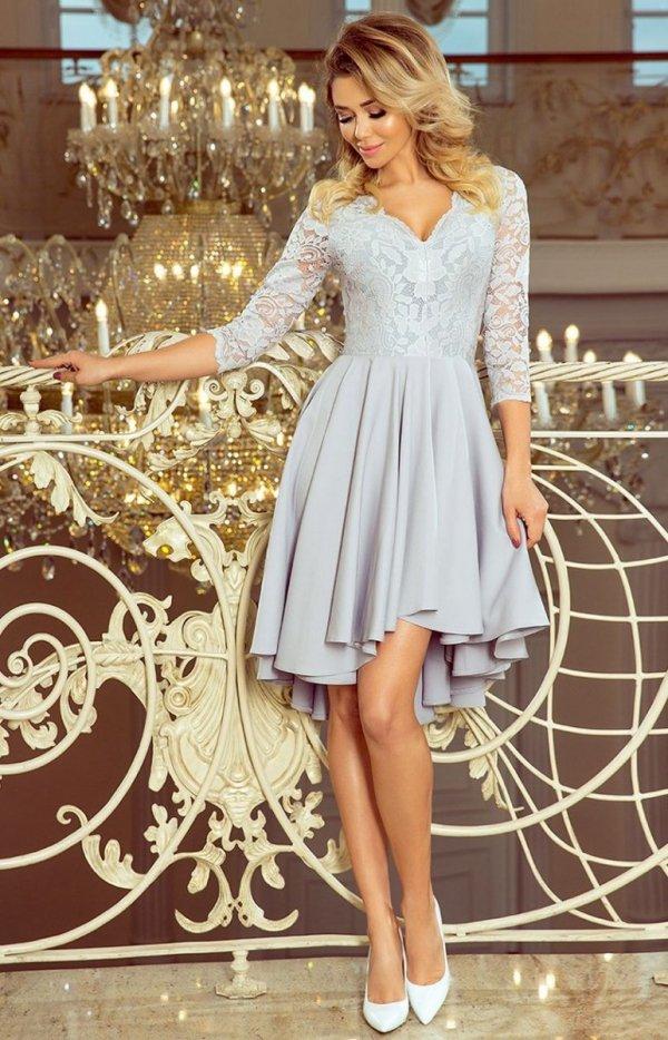 Sukienka szara z dłuższym tyłem Numoco 210-9_2