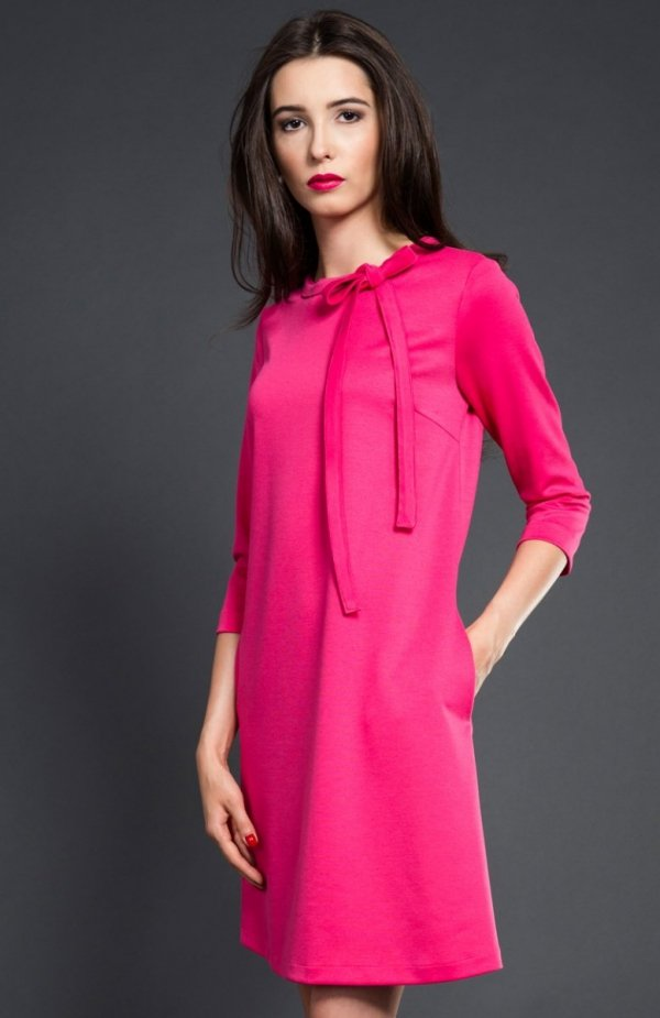 db7c73ec8f Kasia Miciak design trapezowa sukienka fuksja - Sukienki dzienne i ...
