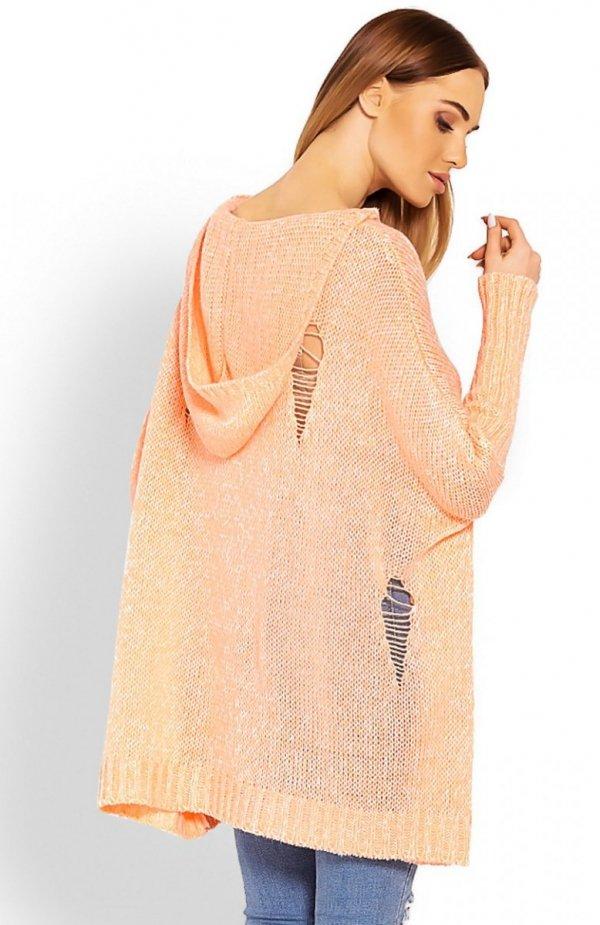 PeekaBoo 30055 sweter morelowy tył
