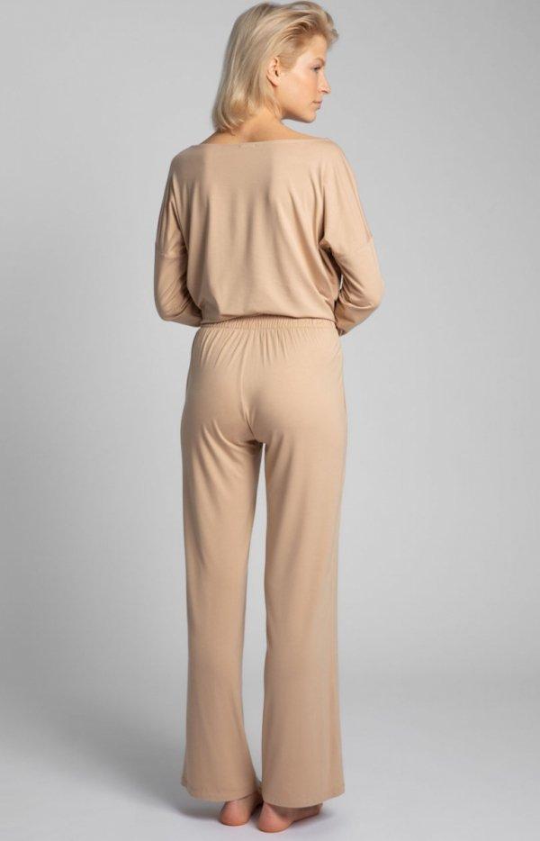 Spodnie do spania z szerokimi nogawkami LA028 tył