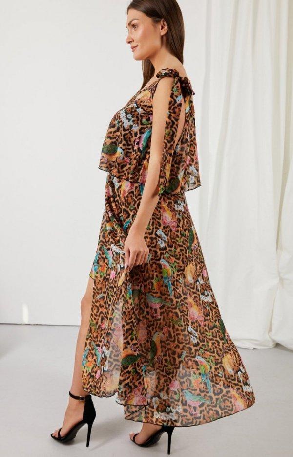 Asymetryczna sukienka maxi LG548/D13-1