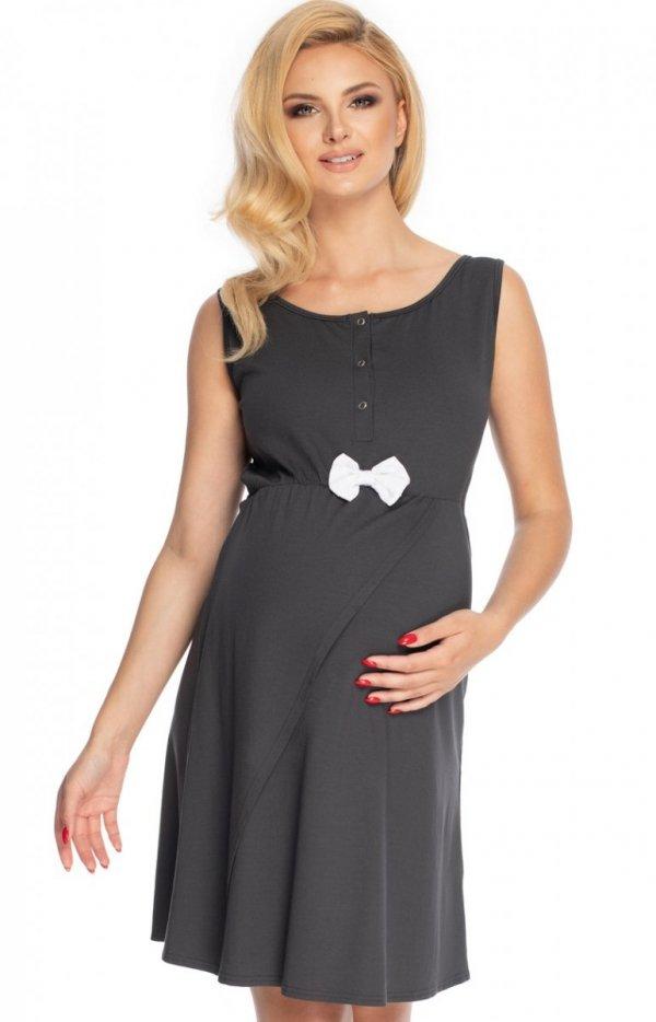 Ciążowa koszula nocna z kokardką 0179