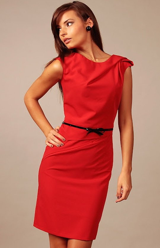 Vera Fashion Estera sukienka czerwona