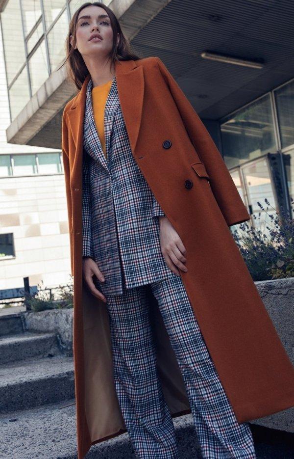 Długi ciepły płaszcz Nife pl06