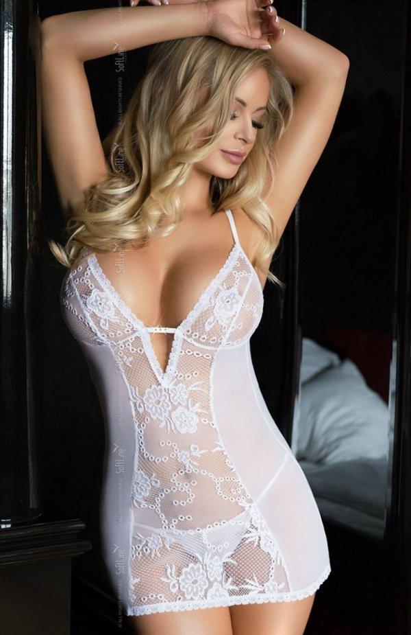 Softline Bridget koszulka i stringi biała