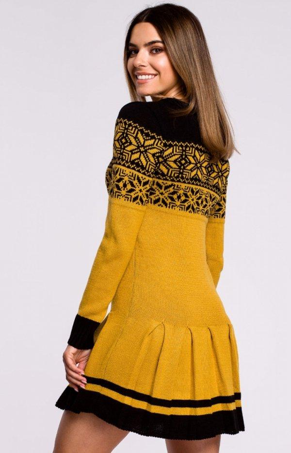 Sweterkowa sukienka świąta MXS01 tył