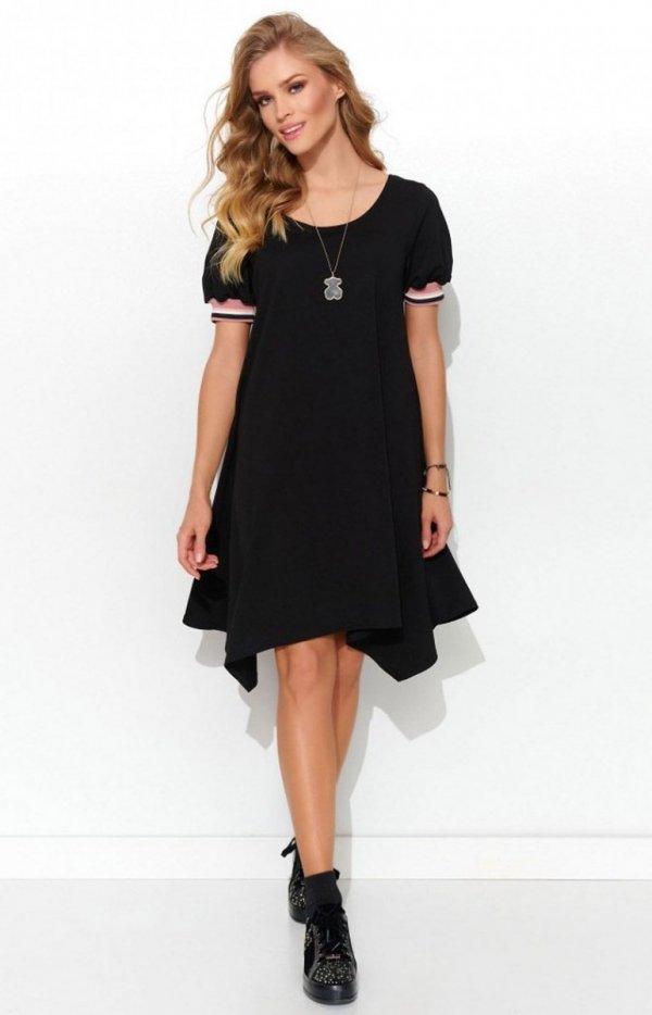 Asymetryczna dzianinowa sukienka NU299-1