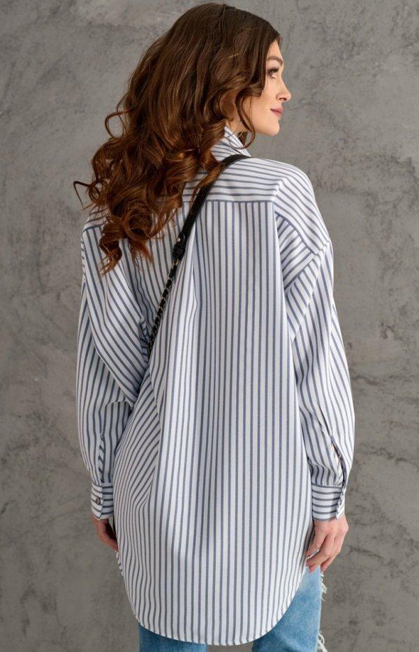 Oversizowa koszula w paski 0104 C2N tył