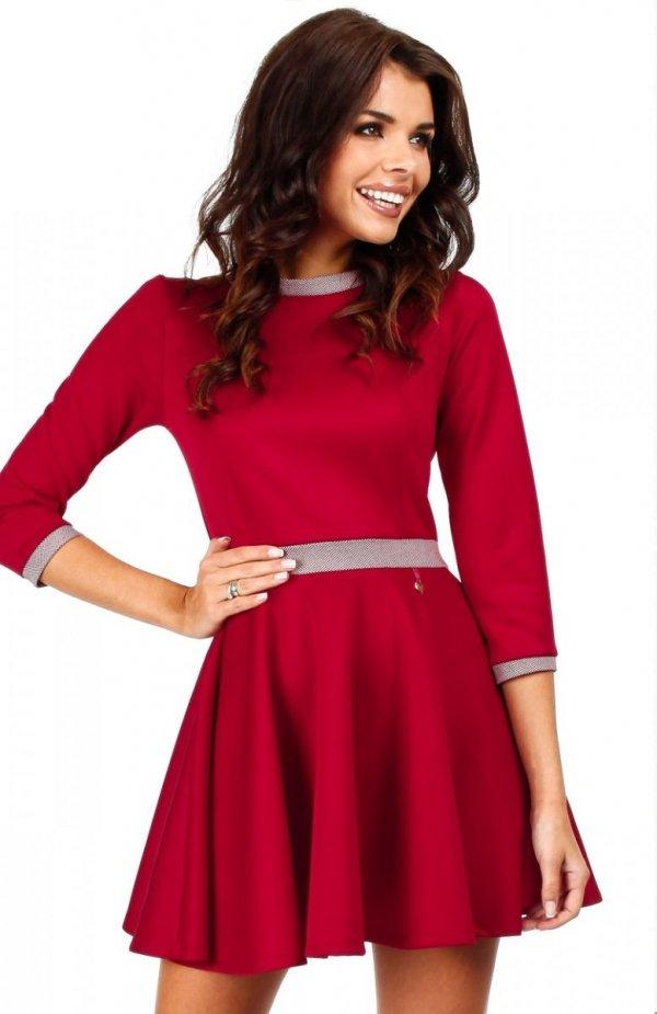 Moe MOE052 sukienka czerwona