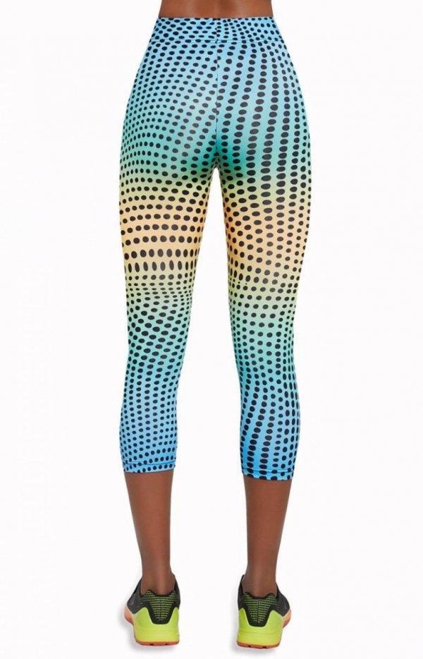 Bas Bleu Wave legginsy 3/4 tył
