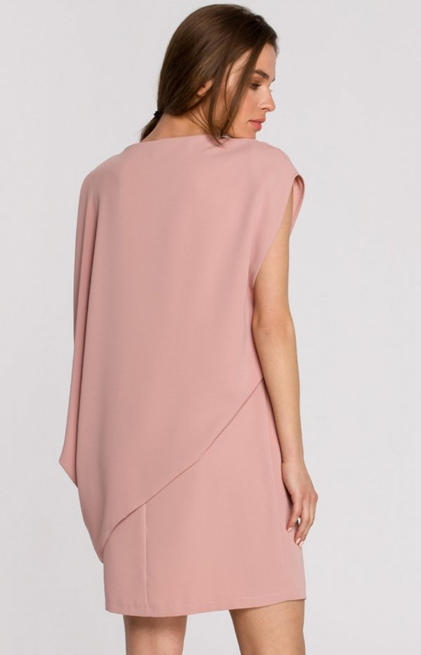 Elegancka sukienka mini warstwowa S262 tył