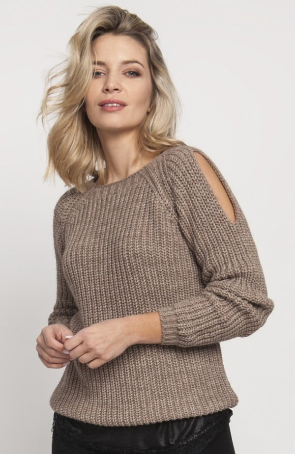 Raglanowy sweter mocca SWE126