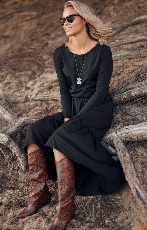 Dzianinowa maxi sukienka M573-1