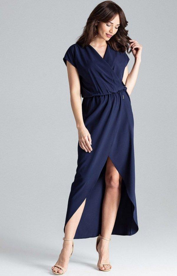 Długa sukienka grantaowa L033-1