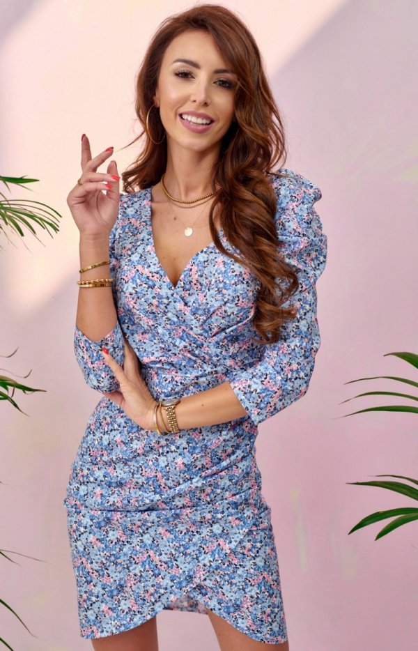 Ołówkowa sukienka w kwiaty 0329/S96-1