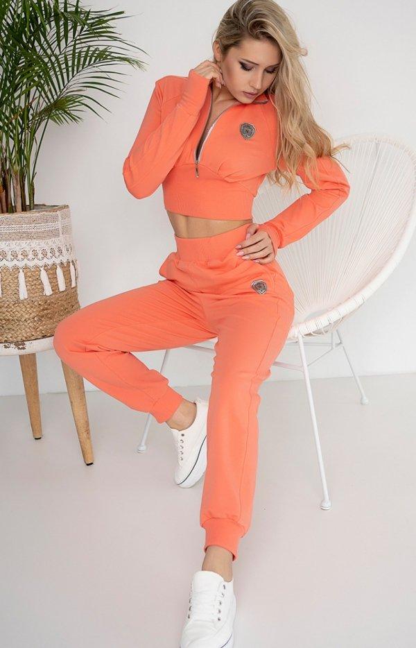Pomarańczowy komplet dresowy 403-10-1