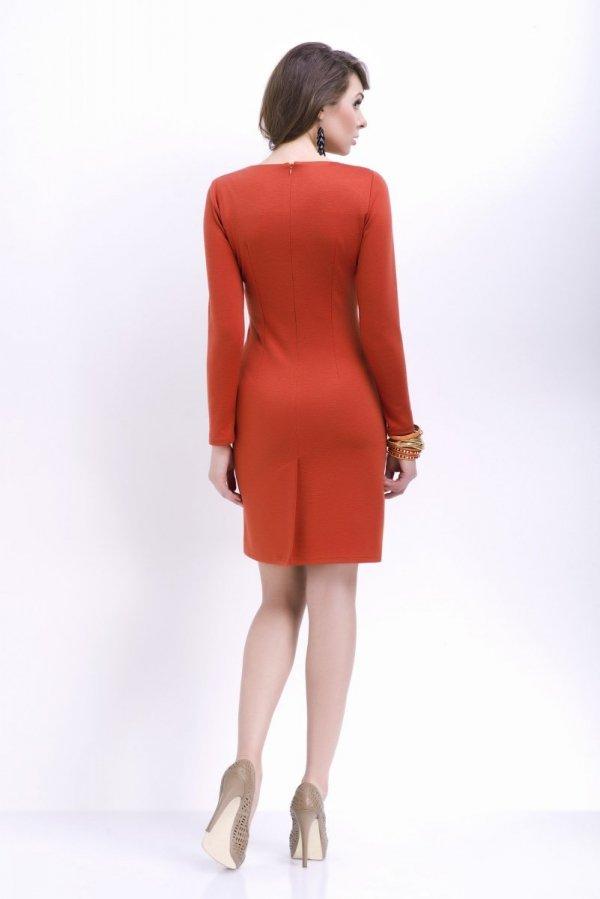 Vera Fashion Agnes sukienka rudy